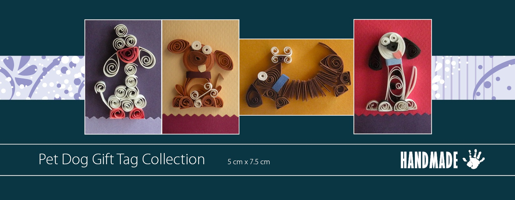 Quilling Pet Dog Handmade